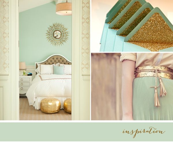 Patchwork Harmony blog: Mint / Gold - gift wrapping ideas