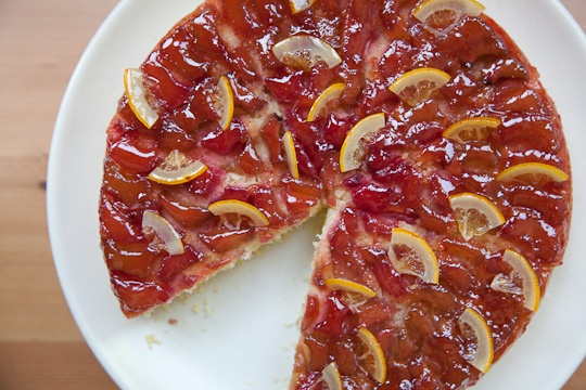 Sweet Cherry Rhubarb Semolina Cake With Candied Clementines Recipes ...