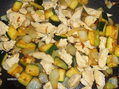 chicken/vegetable stir fry-- before sauce was added-- its so good
