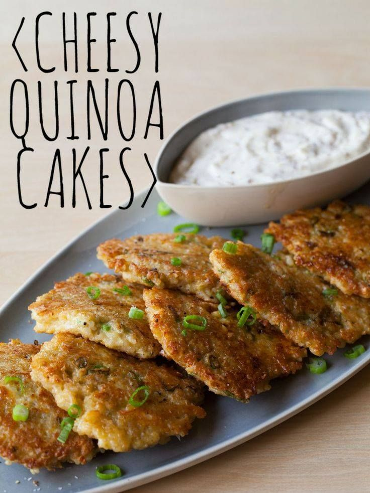 patties with the quinoa mixture and place in heated pan cook cakes ...