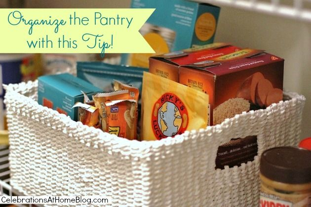 Organize The Pantry With This Tip