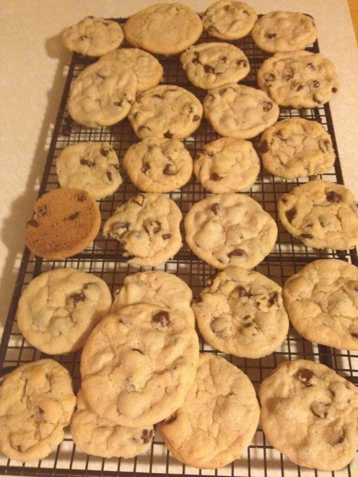 Perfect chocolate chip cookies   cookies   Pinterest