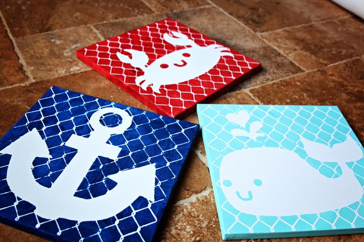 DIY Nautical Nursery Art