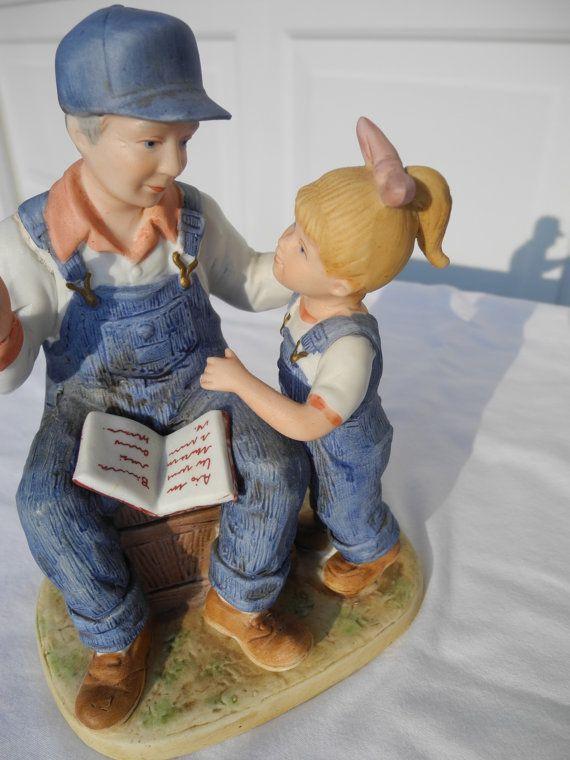 Vintage Homco Denim Days Figurines 1985 1 Larger Figurine