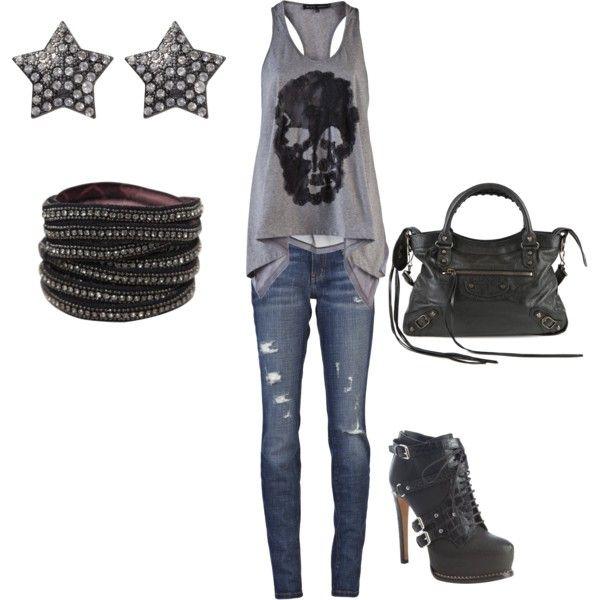 Edgy, rocker look | Styles I'm Lovin' | Pinterest