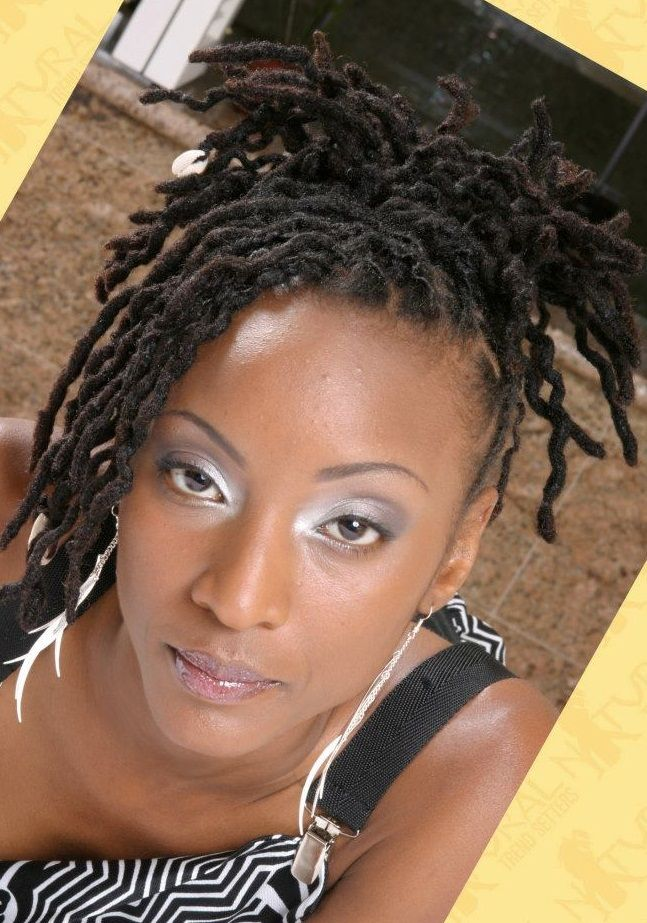 Gray Twisted Locs Black Women Natural Hairstyles  Short