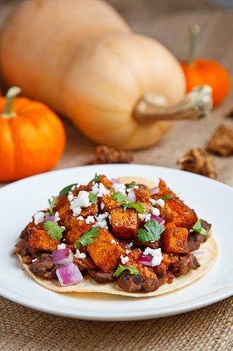 Butternut Squash and Chorizo Tostadas | Recipe