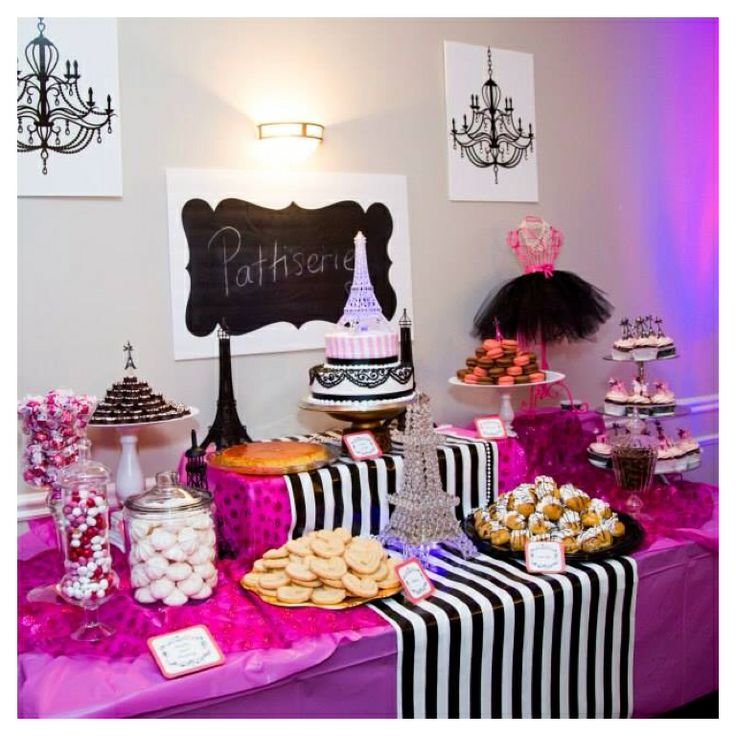 paris theme party dessert table prom ideas pinterest