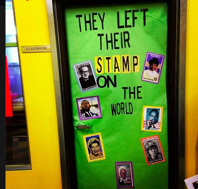 Black History Month door decoration Teaching History Pinterest