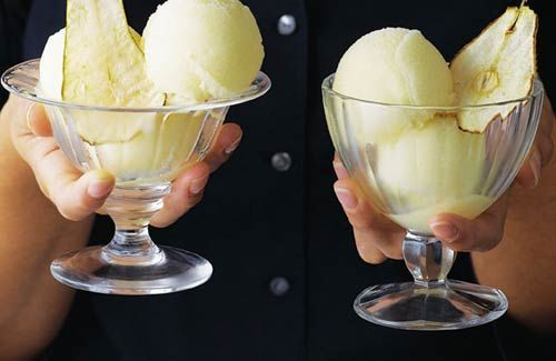 Pear sorbet with pear wafers recipe // #italiansinsingapore