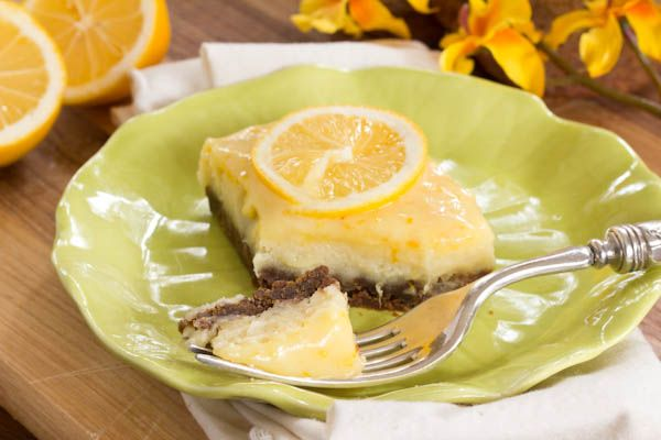 Ginger Lemon Cheesecake Bars with Almond Paste, Cream Cheese ...