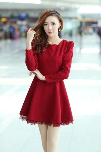 Lastest Korean Dress  Korean Dress K1222 Pink K1222 1090  Yuki Wholesale