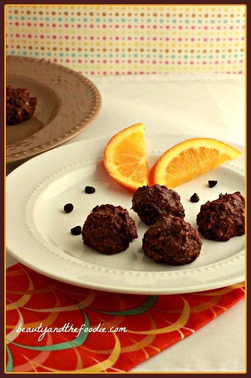 Raw Chocolate Orange Truffle Bites, paleo / beautyandthefoodie.com