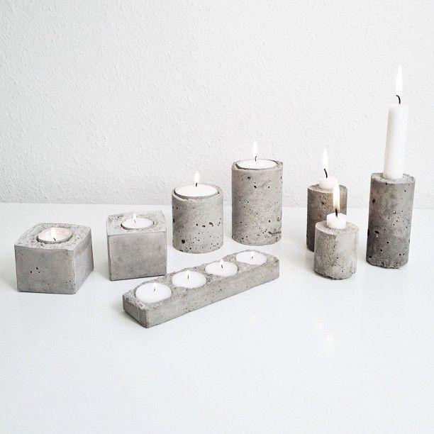 Concrete candlesticks DIY