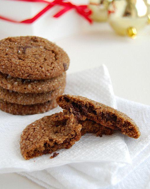 Chewy chocolate gingerbread cookies / Cookies de pão de mel by ...