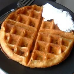 """Kate's Light n' Fluffy Buttermilk and Chocolate Chip Waffles 