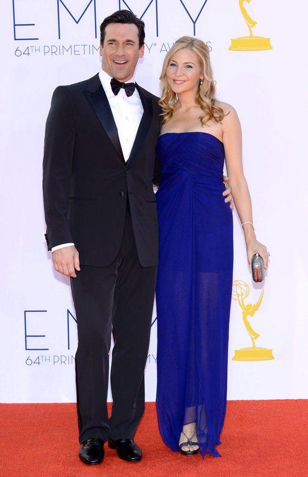 Jon Hamm + Jennifer Westfeldt  - 64th Annual Primetime Emmy Awards - Arrivals