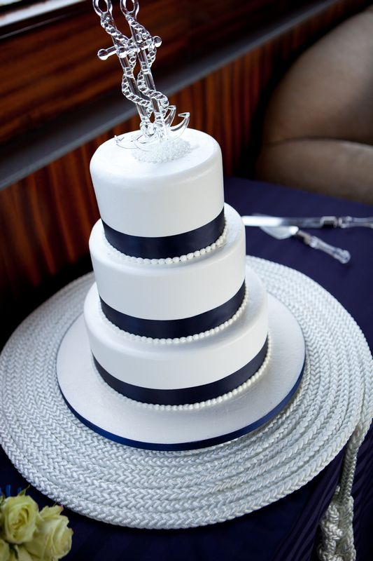 Nautical Wedding Cake In The Future Pinterest