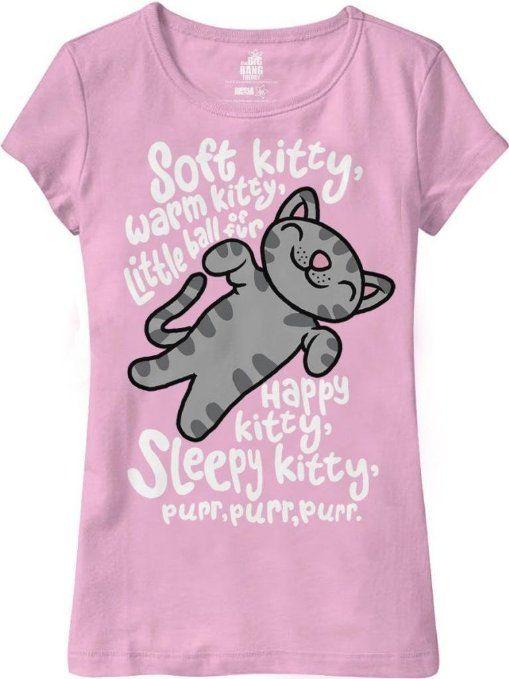 bang theory kitty girls shirt bqwpk