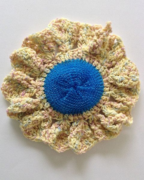 Crochet Patterns In The Round : Picture of Dishcloths In The Round Crochet Pattern Set
