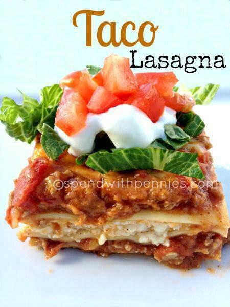Taco Lasagna | Recipes To Try | Pinterest