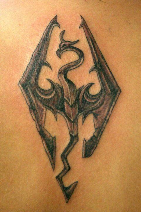 My Skyrim tattoo done by Keisha Way @ hand candy tattoo