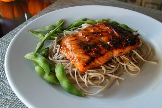 EASY Salmon With Brown Sugar And Mustard Glaze | Recipe