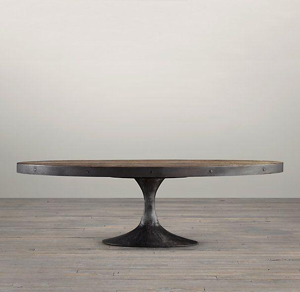 Aero 42 oval coffee table restoration hardware leasing lobby