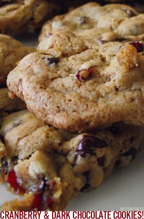 Cranberry Dark Chocolate Cookies! Had myself a baking morning (also ...