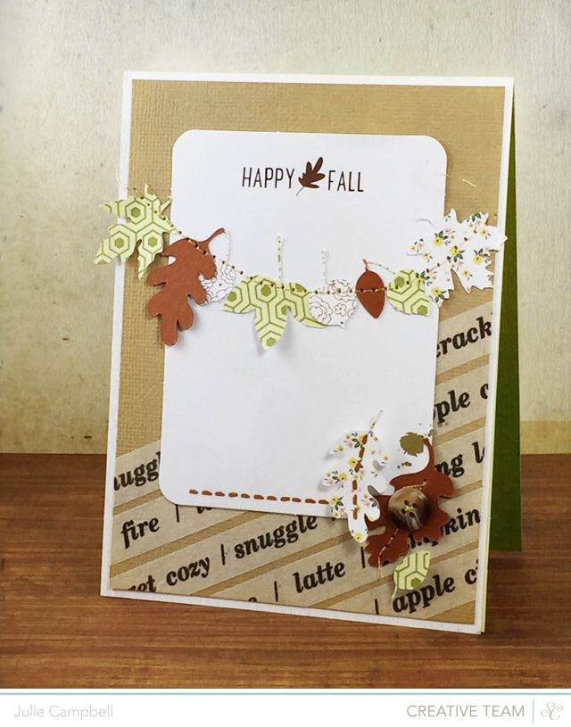 Leaf Banner Fall Card