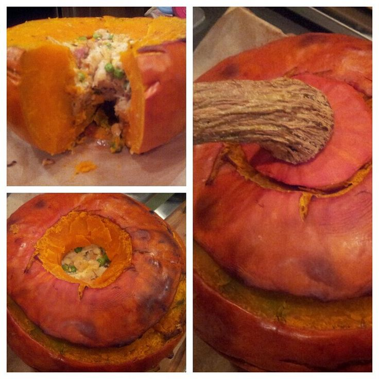 Pumpkin stuffed with everything good! | FOOOD! | Pinterest