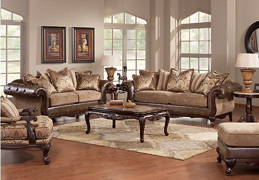 Shop for a cindy crawford home lancaster manor 7 pc living for Find living room furniture