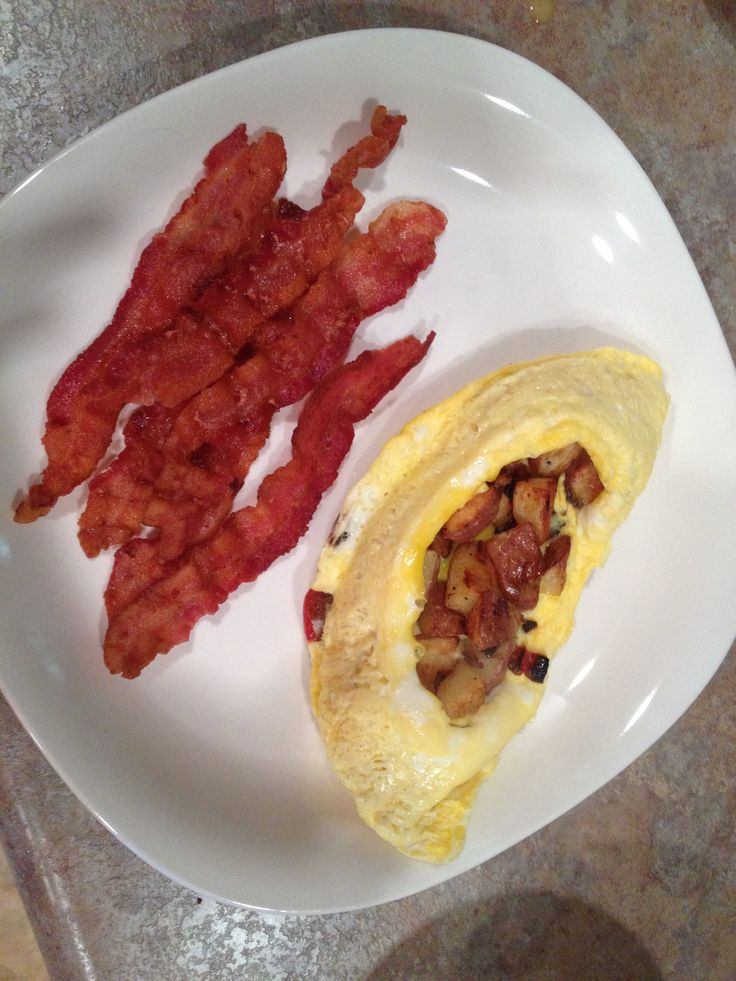 ... potatoes and just followed the omelet instructions. Fried some bacon
