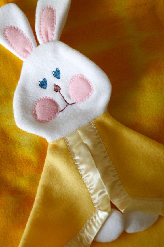 Replica Fisher Price Bunny security blanket by SuziesImaginarium, $18.00