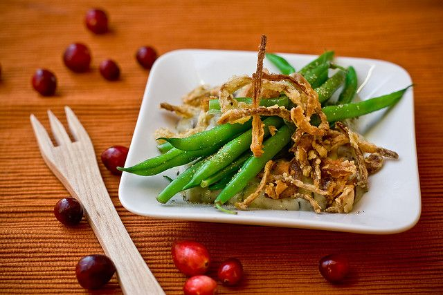 Deconstructed Green Bean Casserole | Vegtables | Pinterest