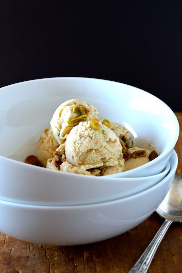 Vegan Roasted Pistachio Maple Ice Cream | Pistachio | Pinterest
