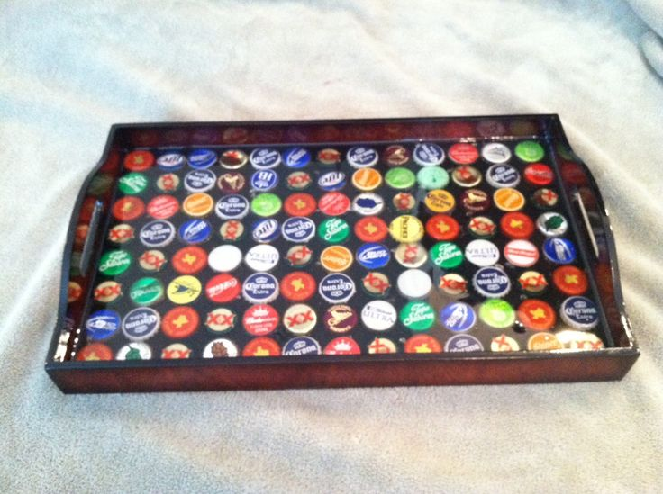beer bottle cap serving tray