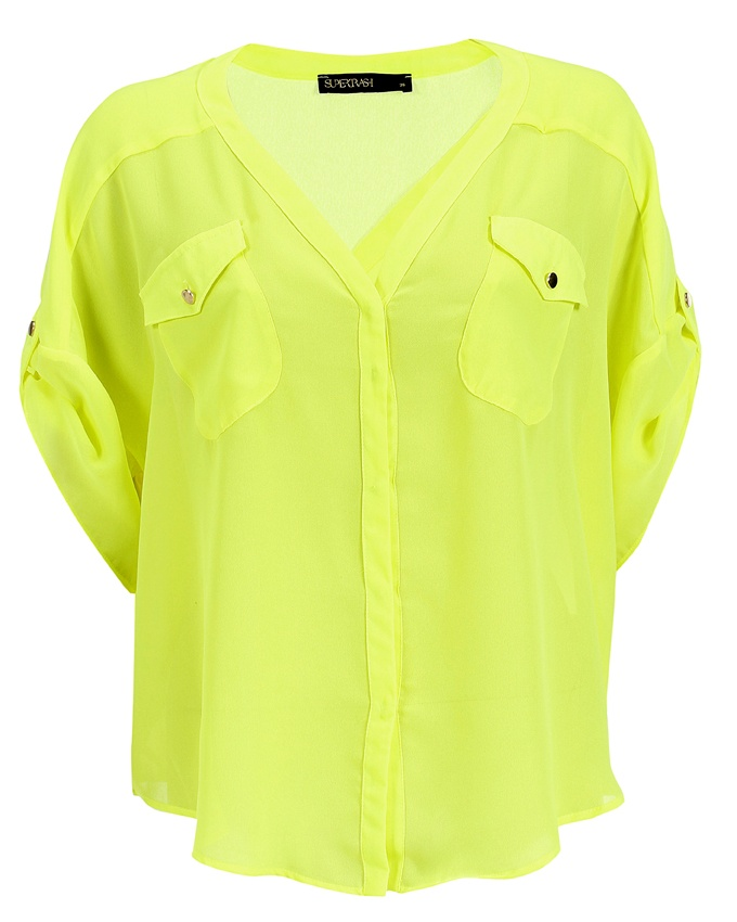 Theory Neon Yellow Blouse 93