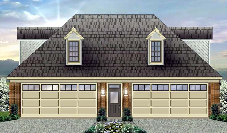Garage plan 44906 for Garage with upstairs apartment