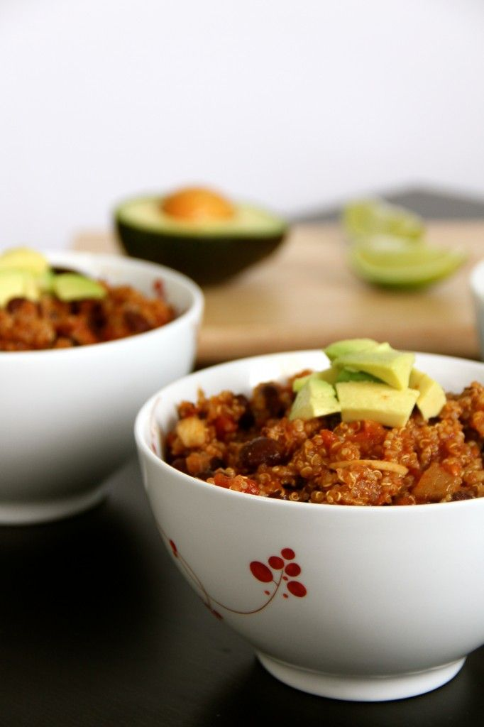 Black Bean & Quinoa Chili | Recipes: Soups, Stews, and Chilis | Pinte ...