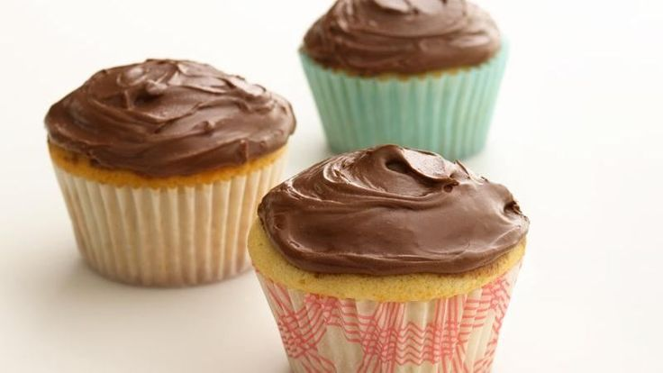 Healthified Chocolate Frosted Cupcakes 65% less sat fat • 46% fewer ...