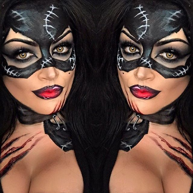 Batgirl eye makeup