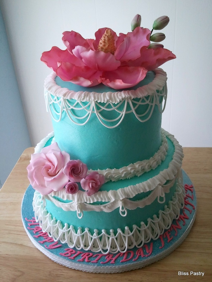 Girly birthday cake Scrummy Cakes Pinterest
