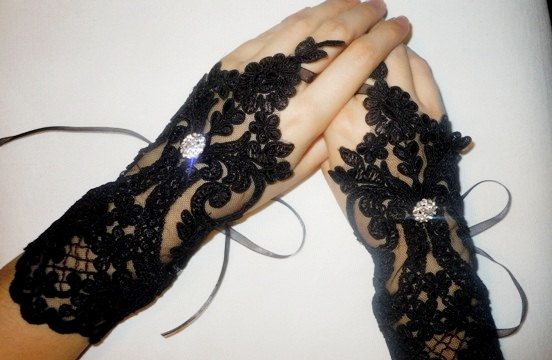 Awesome wedding romantic fingerless gloves