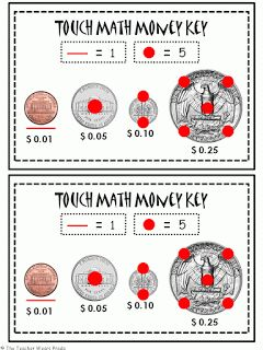 Touch Math Money FREEBIE! | Common Core Math | Pinterest
