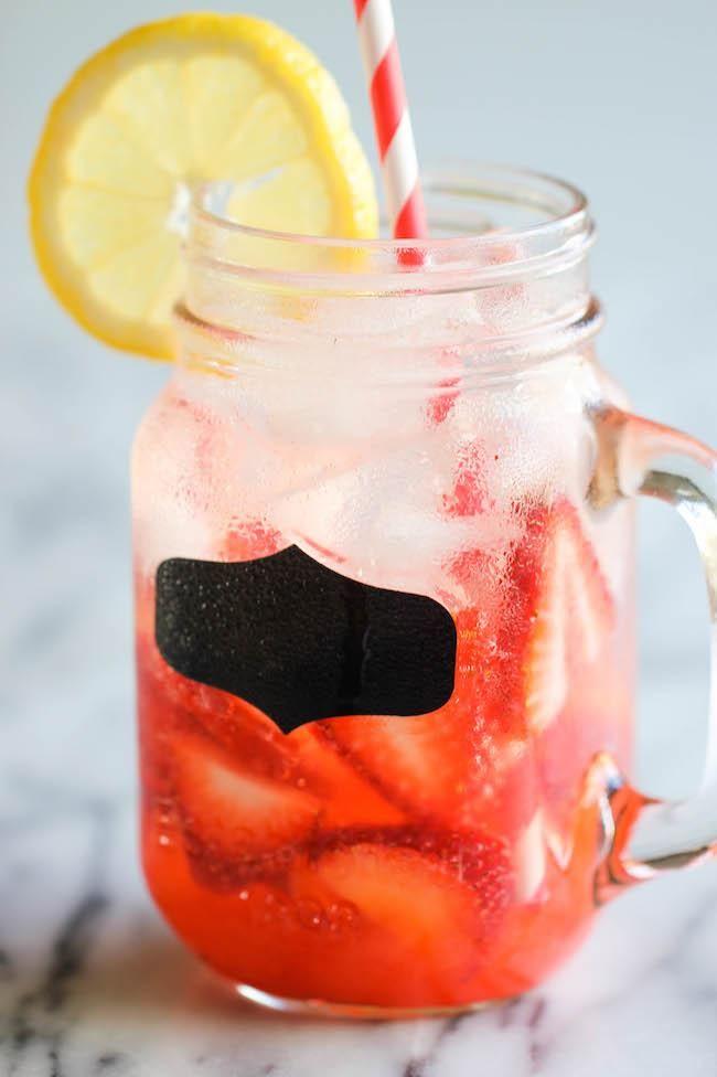 Sparkling Strawberry Lemonade - Wonderfully sweet, tangy, refreshing ...