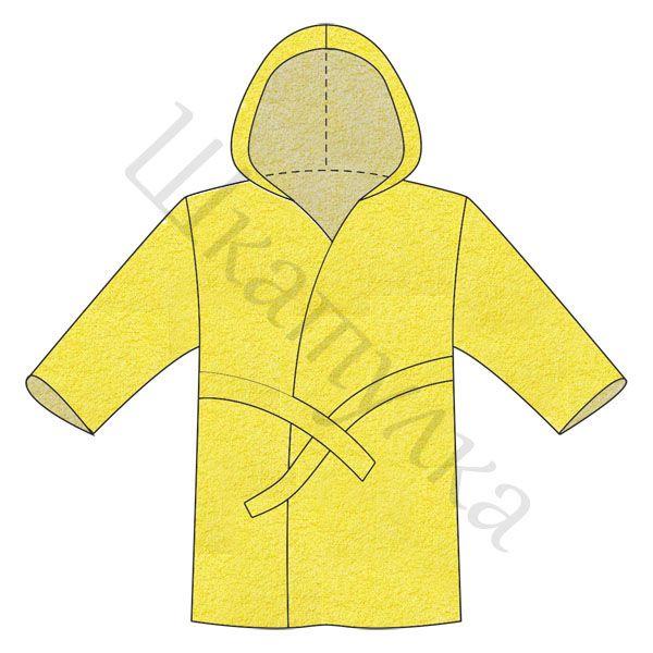 Как сшить детский халат с капюшоном из полотенца