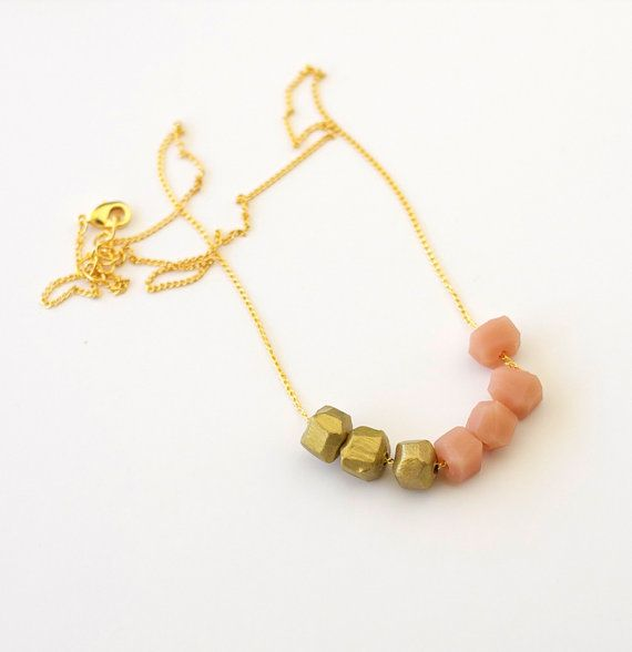 A Merry Mishap- Rose and Gold Dipped Necklace