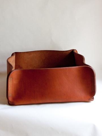 Handmade Leather Box  And George