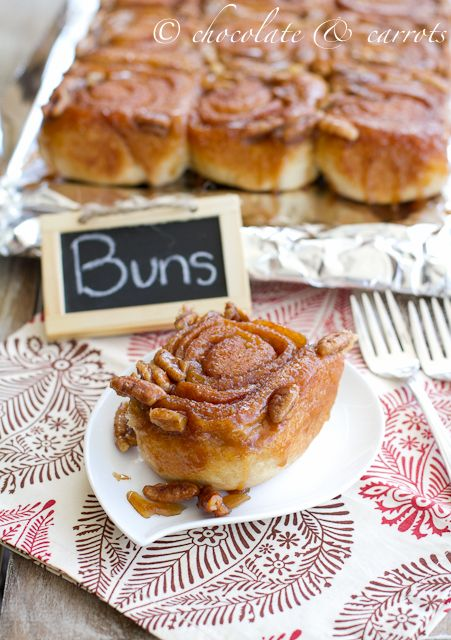 whole grain sticky buns | cinnamon rolls + sticky buns | Pinterest